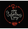 happy valentines day lettering greeting card be vector image vector image