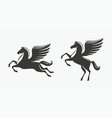 horse with wings symbol pegasus vector image vector image