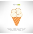Ice cream icon in modern vintage design Dessert vector image