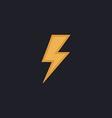 lighting bolt computer symbol vector image vector image