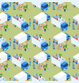 loading furniture truck seamless pattern vector image