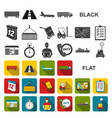 logistics service flat icons in set collection vector image vector image