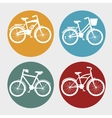 love bicycle lifestyle icon vector image vector image