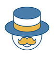 man wearing a hat icon vector image vector image