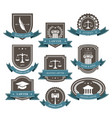 master lawyer and attorney emblems blazons and ba vector image vector image