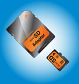 MICRO SD vector image vector image