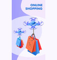 online shopping isometric banner template vector image