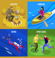outdoor activities concept icons set vector image