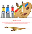 paints and palette banner vector image vector image