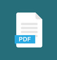 pdf format file icon symbol vector image vector image