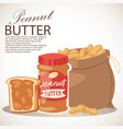 peanut butter banner piece of vector image vector image