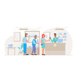 queue people at pharmacy buying medicine vector image vector image