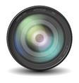 realistic camera lens eps 10 vector image vector image