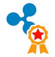 ripple star award flat icon vector image vector image