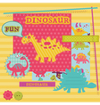 Scrapbook Design Elements - Baby Dinosaur Set vector image vector image