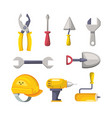 set labor tools to professional employers vector image vector image