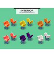 Set of office chairs in isometric style vector image vector image