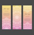 set of vertical ethnic narrow banners vector image vector image