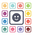 smile flat icons set vector image