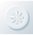 Snowflake 3D Paper Icon vector image