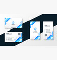 stylish blue business card template design set vector image vector image