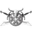 the emblem viking vector image