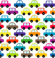 Toy cars background vector image vector image