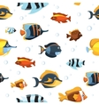 Underwater life with cute cartoon fishes vector image vector image