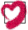 valentine s love background with heart vector image