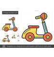 vintage scooter line icon vector image