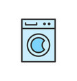 washing machine cleaning service flat vector image