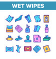 wet wipes disinfectant collection icons set