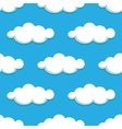 White clouds on blue sky seamless pattern vector image vector image