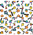 winner seamless color pattern vector image vector image