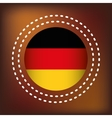 german country flag vector image