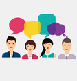 People icons with colorful dialog speech Social vector image