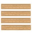 wood measuring rulers vector image