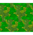 Realistic Green Leaves Seamless Pattern vector image