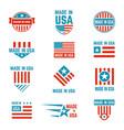 made in usa flag emblem set vector image