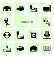 14 adapter icons vector image vector image