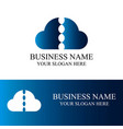 abstract cloud logo vector image