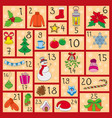 advent calendar cute christmas winter and new vector image vector image
