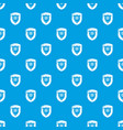 antique shield pattern seamless blue vector image vector image
