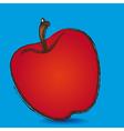 apple grunge blue background vector image