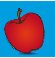 apple grunge blue background vector image vector image