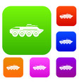 armored personnel carrier set collection vector image vector image