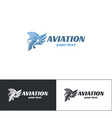 aviation logo design five vector image vector image