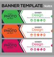 bannertemplate for business webdesign vector image vector image