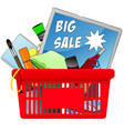big sale chopping card with objects vector image vector image