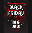 black friday sales banner with llines and triangle vector image